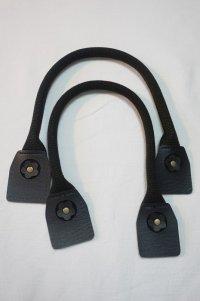 バッグ 持ち手 2本手 フラワーポイント  黒