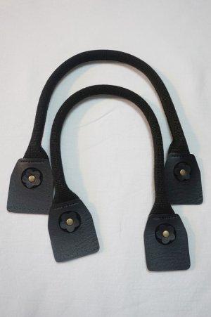 画像1: バッグ 持ち手 2本手 フラワーポイント  黒